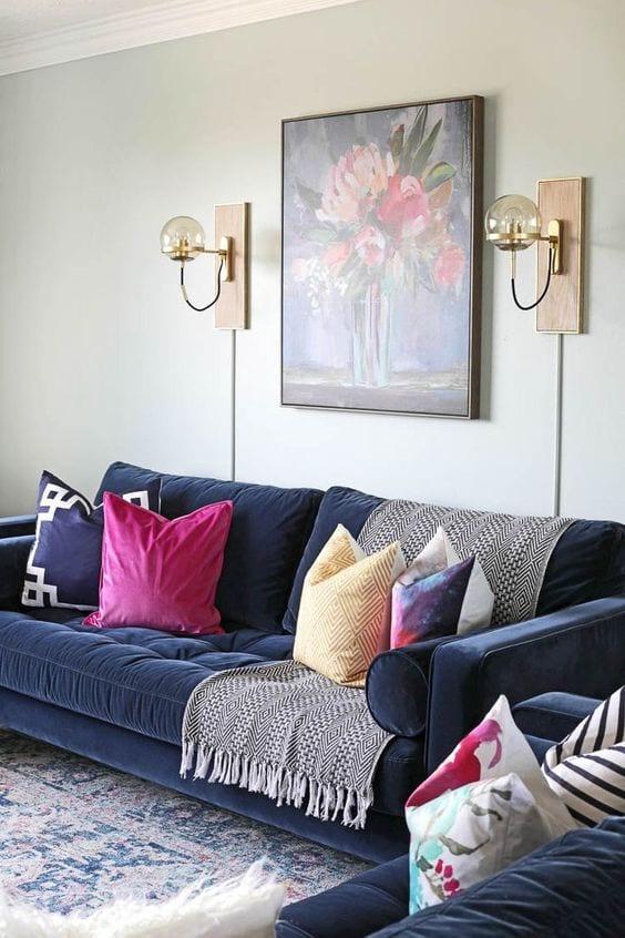 Velvet Living room sofa design