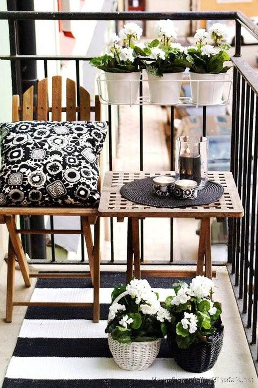 White And Black Balcony Garden Ideas