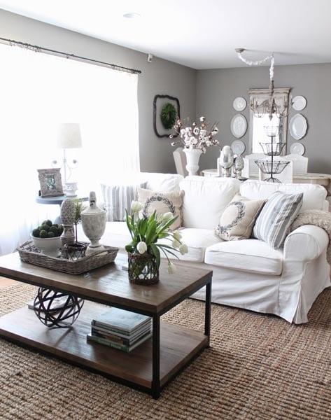 White living room decor ideas