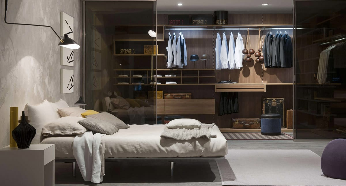 Glass Door Bedroom Wardrobe Design Ideas