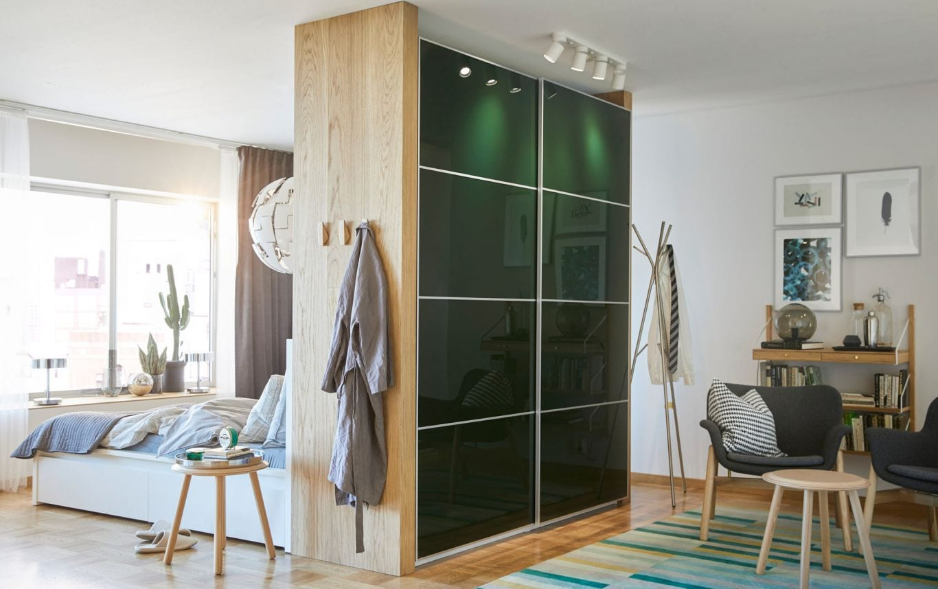 Wardrobe As A Room Divider Design Ideas