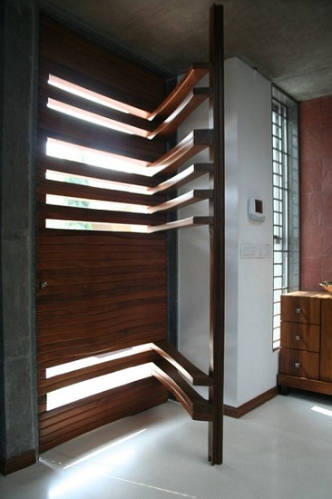 10. Smart Main door design ideas of solid wood