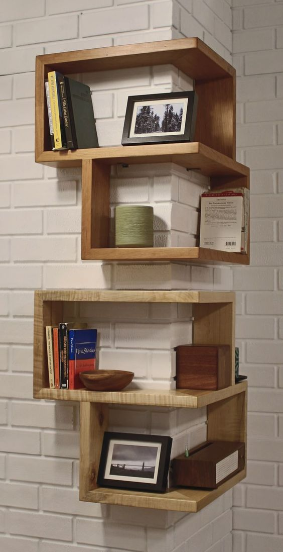11. Attractive corner wall shelves that everyone should try this at home utilizing the space