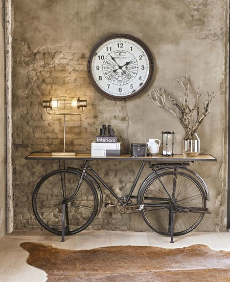 5. Lovely Conceptual idea from industrial revolution for console table