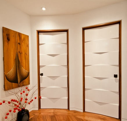 7. Triangle Door Contemporary design one should try out to give a new look for your home