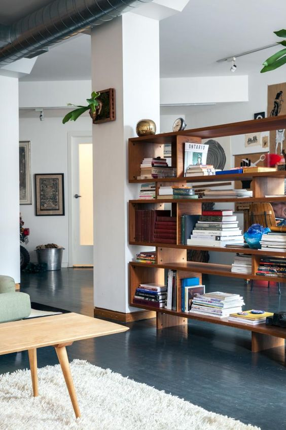 8. Shelf Being Used As Room Divider