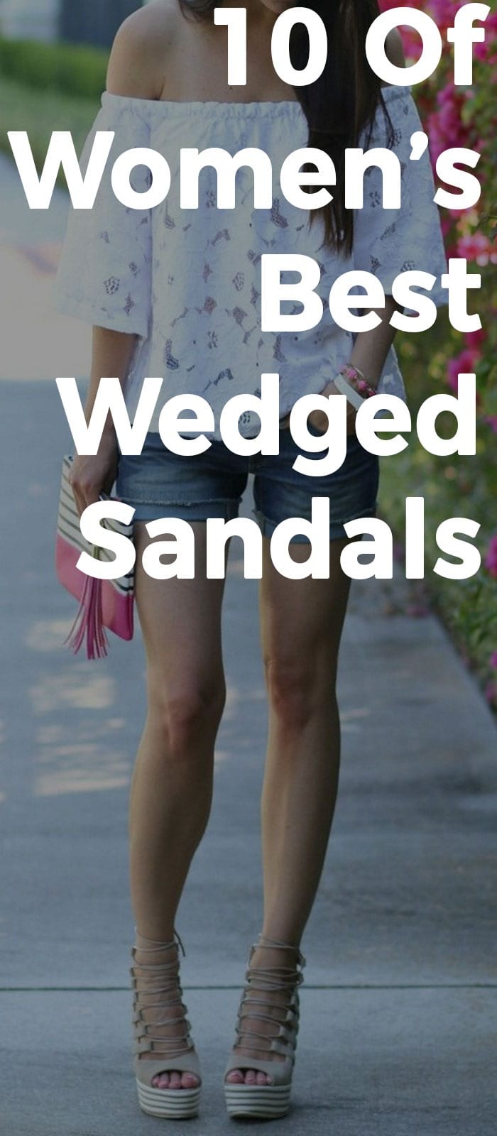10 Of Women's Best Wedged Sandals For Women