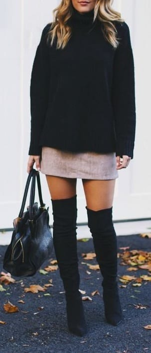 style Over The Knee Boots with mini skirts