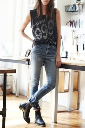 style chelsea boots with jeans