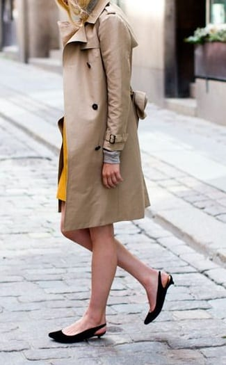 style sling back sandals with coats