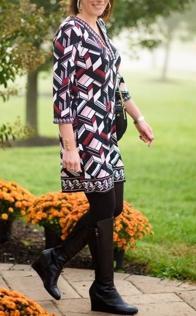 style wedge boots with casual wear