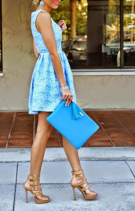 style your footwear with mini dress