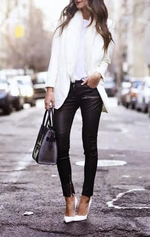 style pump heels with jackets