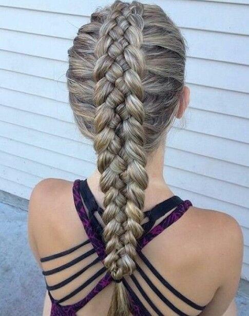 5 strands dutch braid