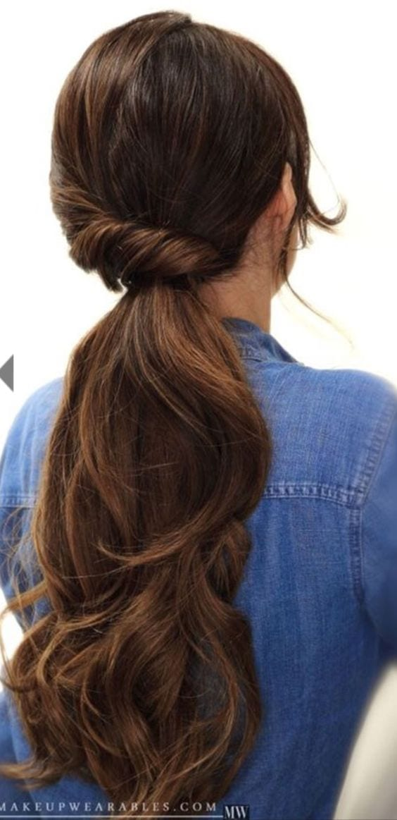 double side ponytail