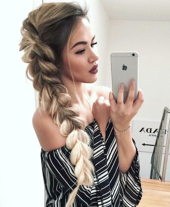 dutch braid thick hair blonde