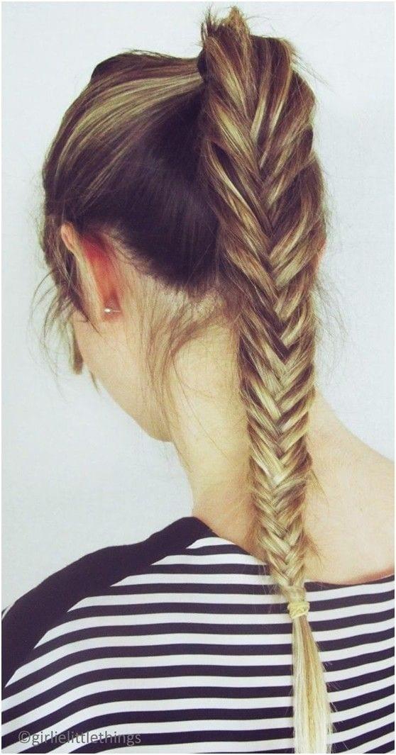 fishtail braid high ponytail