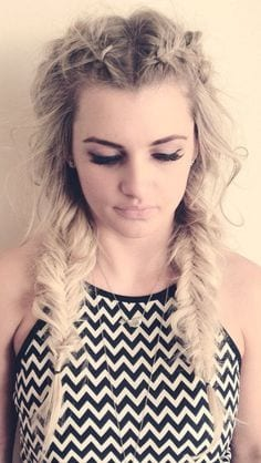 fishtail two ponytail