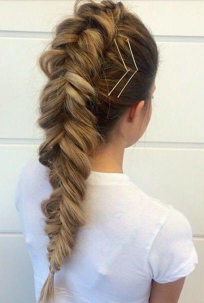 french braid thick hair