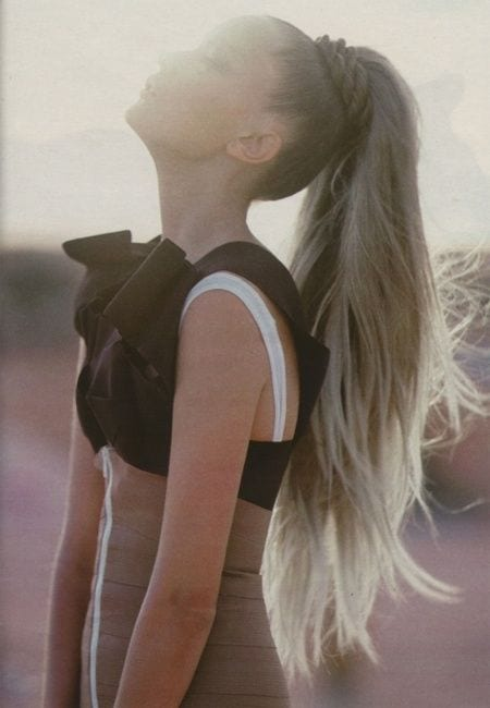 high long ponytail