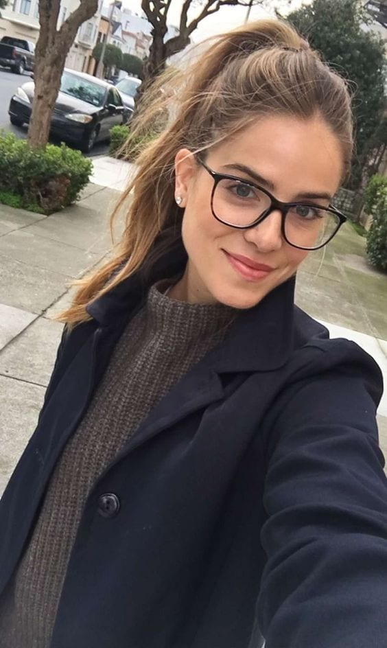 messy pony with glasses