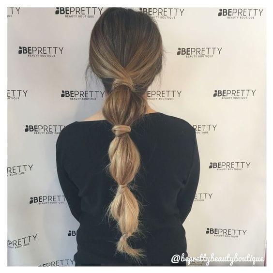 pretty bubble ponytail