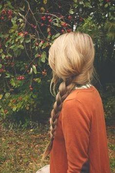 simple braid long blonde hair