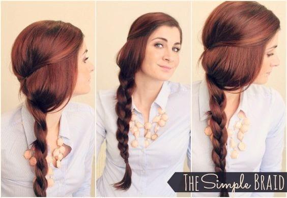 simple braid long hair