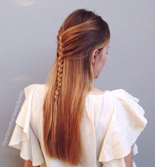 simple half up braid