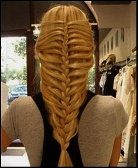 skeleton braid long hairr