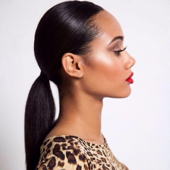 sleek and low ponytail for black skin - Theunstitchd Women ...
