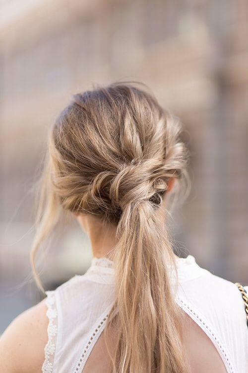 twisted ponytail long