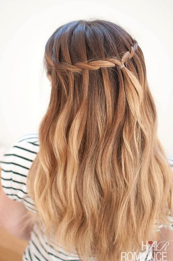 waterfall braid medium hair length