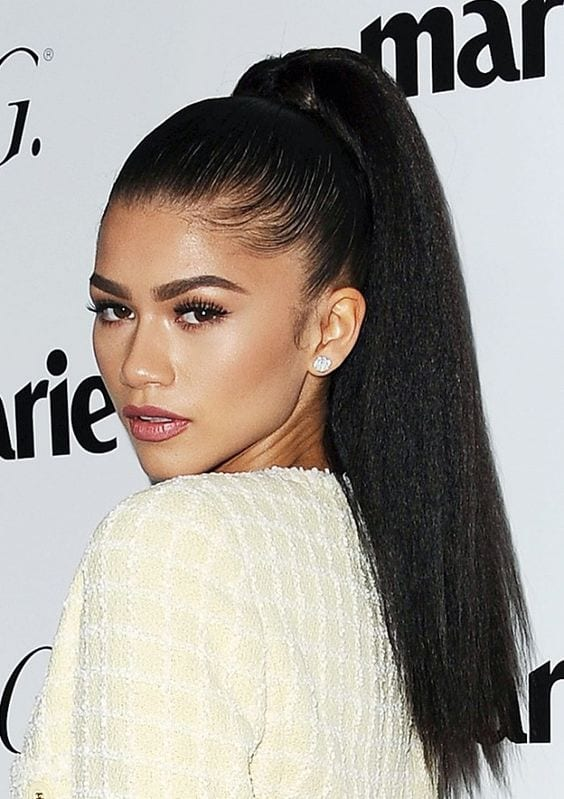 zendaya's high ponytail