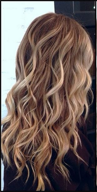 beach waves long blonde