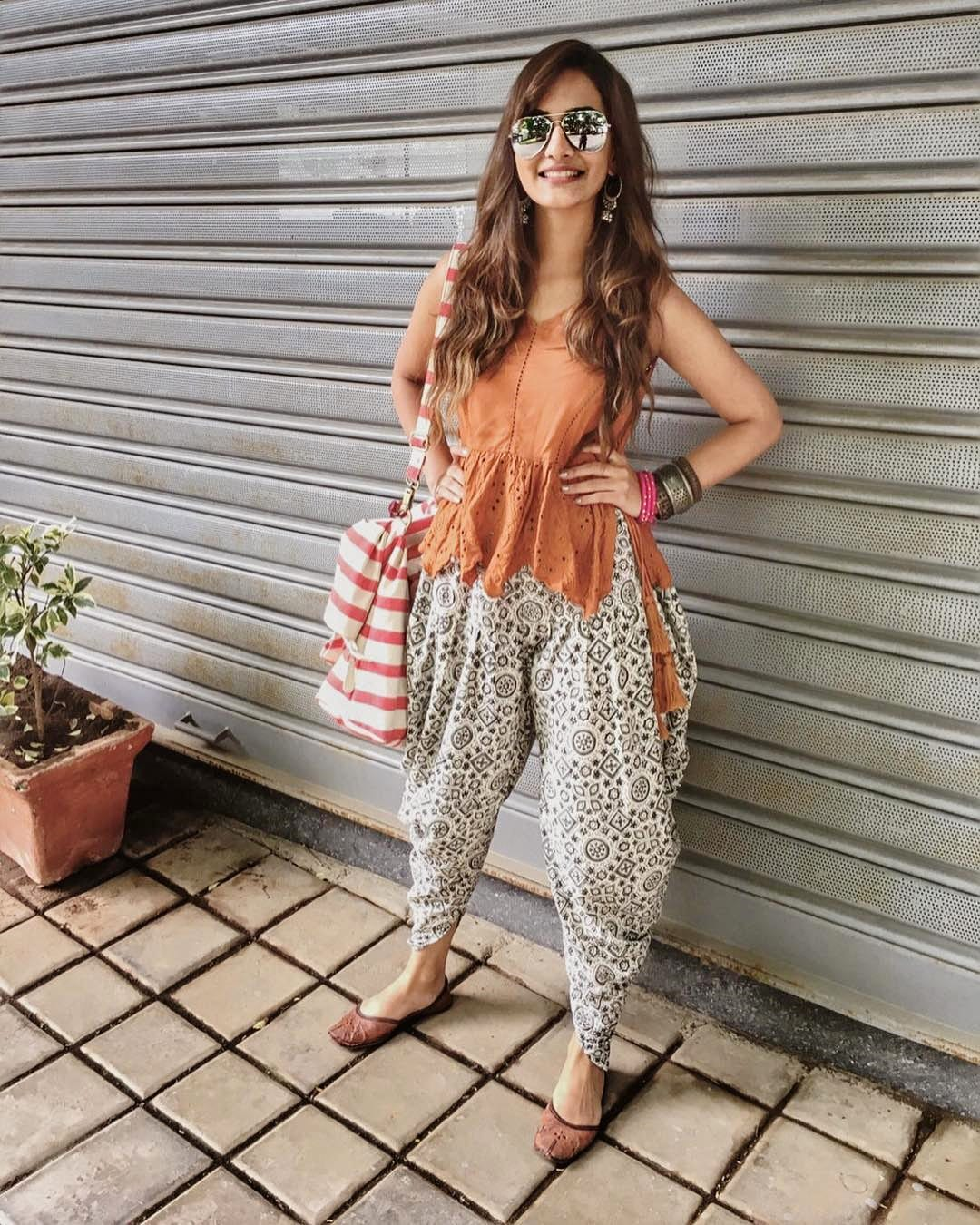 cool dhoti pants outfits