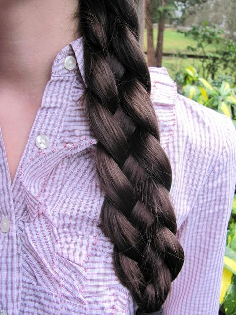 four strand braid black thick hair