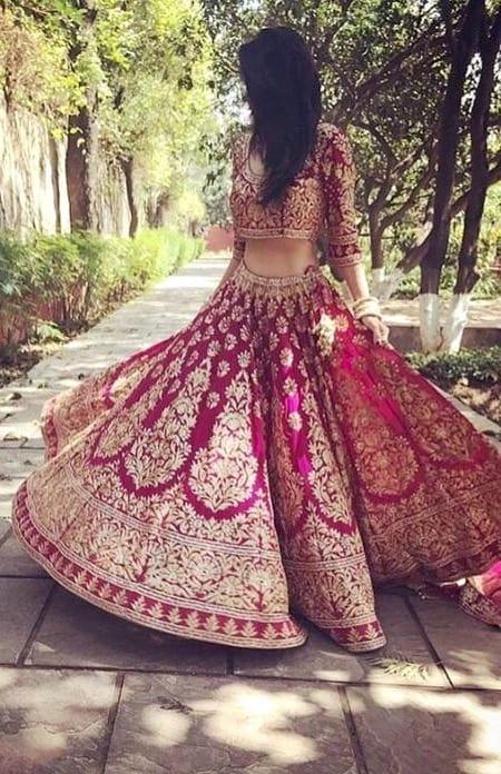 lehenga choli bridal style