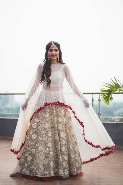 lehenga with cape bridal collection