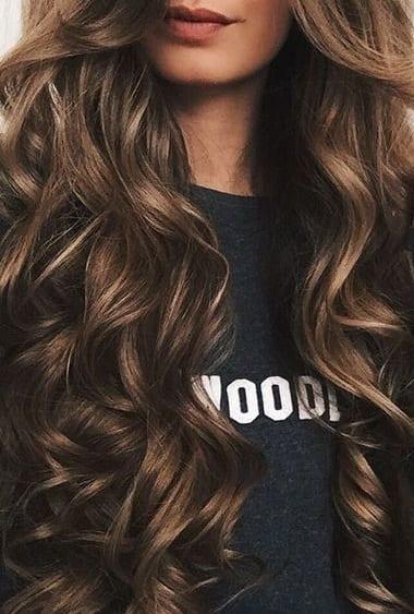 long waves coloured hair