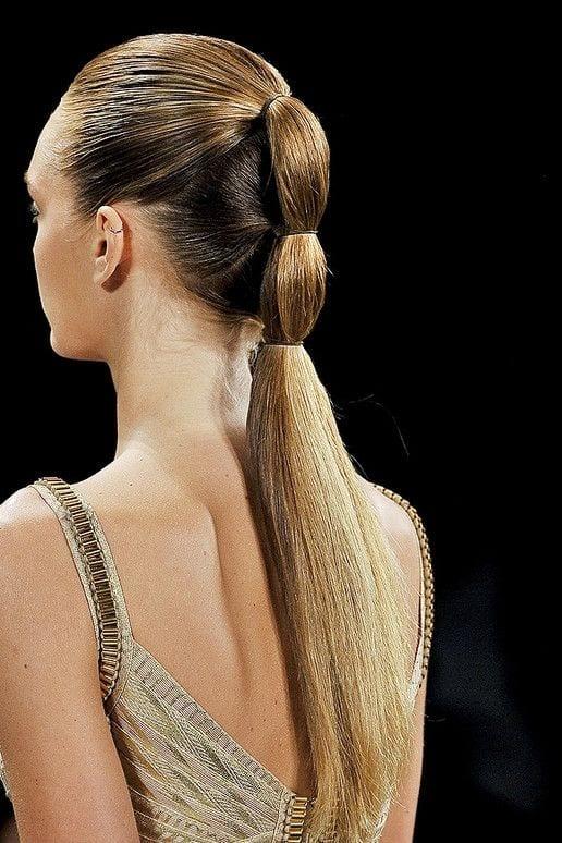 runway inspired ponytail