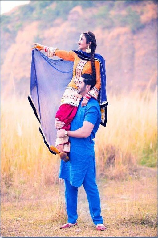 salwar suit for pre wedding photo shoot
