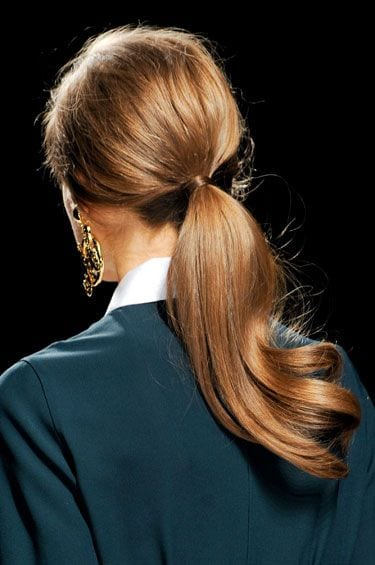 wavy polished ponytail
