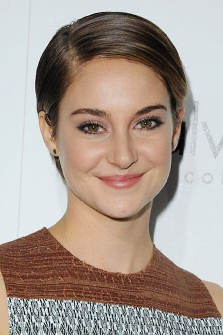 wet hair look on shailene woodley