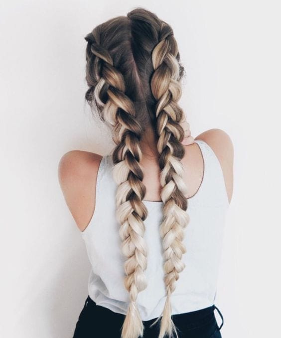 dutch braid pigtail