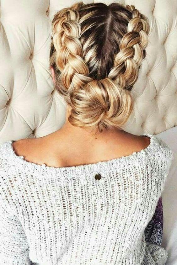 dutch braid updo