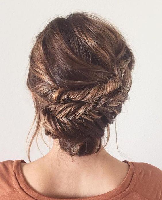 fishtail braid updos