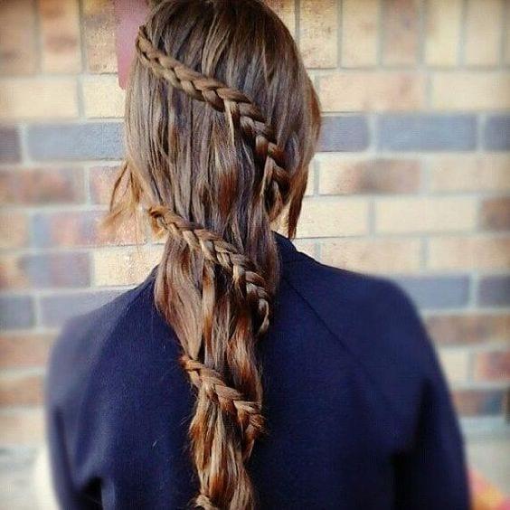 spiral braid long hair