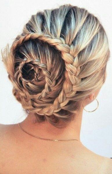 spiral braid with bun