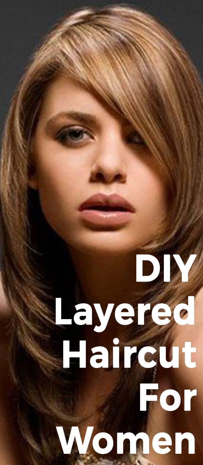 DIY Layered Haircut For Women